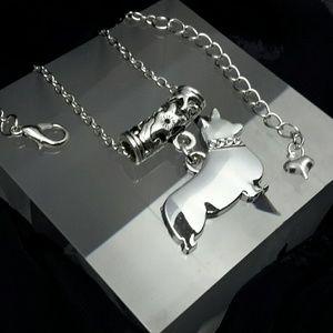 Jewelry - CORGI DOG with CRYSTAL COLLAR NECKLACE